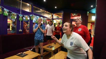 EURO 2020:  Celebrations at the final whistle in Wigan