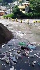 Río Las Vacas se desborda en la colonia Santa Marta
