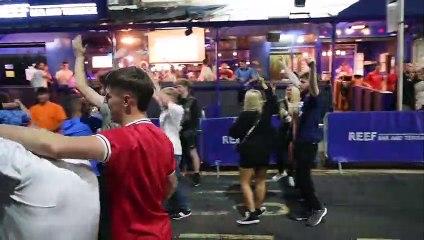 Wiganers celebrate England through to Euro 2020 final