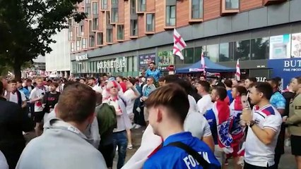 Watch the lead up to England's semi-final victory at Wembley