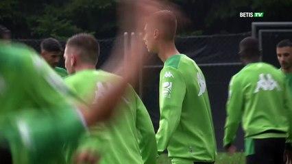 Primer entrenamiento del Betis en Suiza