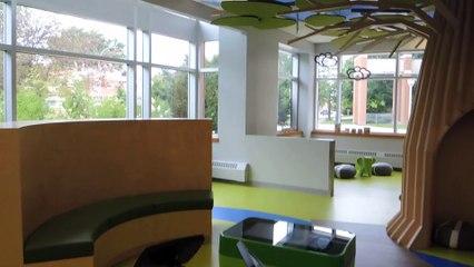 Visite d'une portion du nouvel Espace jeunes de la bibliothèque Georgette-Lepage de Brossard