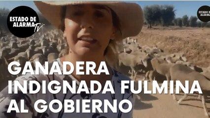 Esta ganadera española indignada fulmina al Gobierno de Sánchez por su campaña contra la carne
