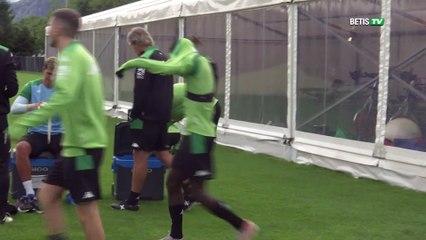 Segundo entrenamiento del Betis en tierras suizas