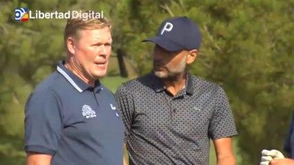 Pep Guardiola y Ronald Koeman disfrutan de una jornada de golf en un torneo benéfico