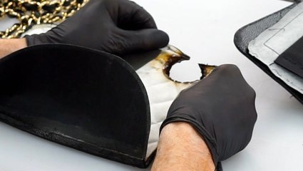 How a $3,000 burned Chanel Flap Bag is professionally restored