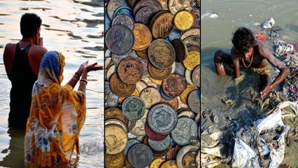Dropping Coins In Rivers నదిలో నాణేలు వేయొద్దు.. Copper Coins తో  Water శుభ్రం || Boldsky Telugu