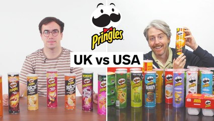 Every difference between UK and US Pringles chips including portion sizes and exclusive items