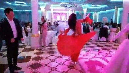 Beautiful Asian dancing girls wedding party