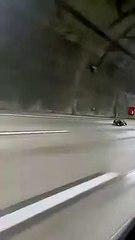 Carrinhos de rolimã surpreendem motoristas na descida da serra pela Imigrantes