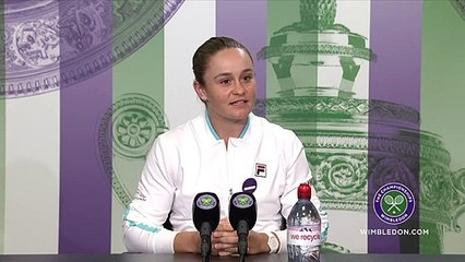 """Wimbledon 2021 - Ashleigh Barty : """"To be successful here at Wimbledon, to realize my biggest dream, has been absolutely amazing"""""""
