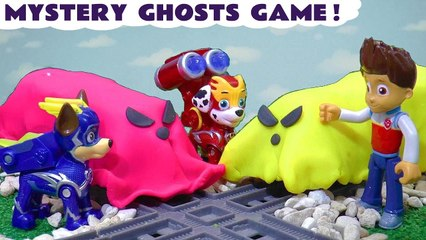 Paw Patrol Charged Up Mighty Pups Mystery Ghost Game for kids with Thomas and Friends and the Funlings in this Spooky Halloween Full Episode English Toy Story by Toy Trains 4U