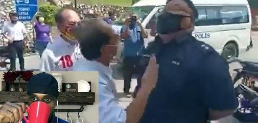 Walaupun dicerca dan dihina , abang polis ini tetap tenang jalankan tugas