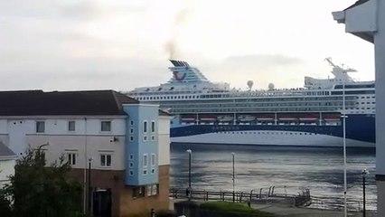 Marella Explorer 2 TUI ship sails along the River Tyne