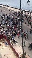 Protestas en el Malecón de La Habana