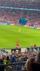 EURO 2020 finalinde seyirci sahaya girdi