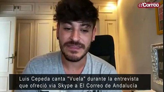 Luis Cepeda nos canta durante una entrevista la canción 'Vuela'.