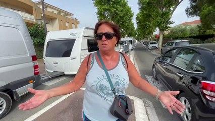 Marie-Lou, Fréjusienne mécontente de l'arrivée des gens du voyages à la Base Nature