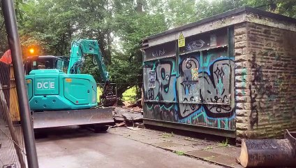 Shelter in Whiteley Woods that had been used by teens to drink and take drugs is demolished
