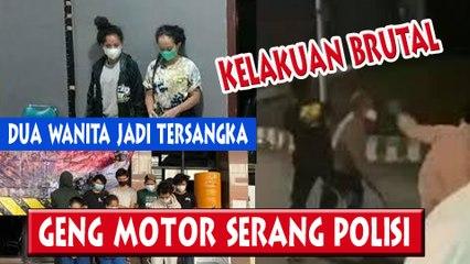 Brutal Geng Motor Serang Polisi