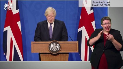 Boris Johnson announces easing of COVID-19 restrictions for July 19