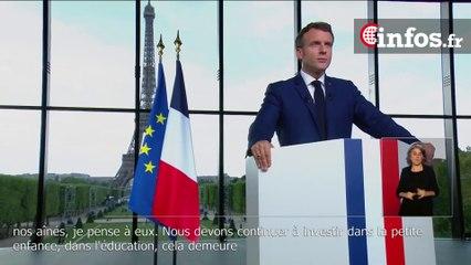 """Macron """"La Nation doit une réponse à ceux qui ont été le plus touchés par la crise"""""""