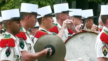 14-Juillet : prise d'armes du 1er REC de la Légion étrangère (2021)