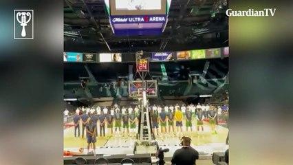 Nigeria's basketball team honour Sound Sultan