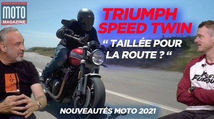 Triumph Speed Twin, en suspension ! Essai Moto Magazine