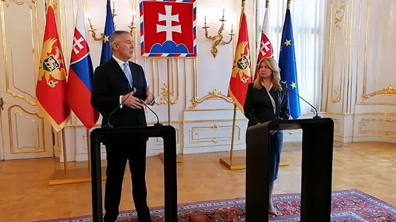 ZÁZNAM: Prezidentka Z. Čaputová sa stretla s prezidentom Čiernej Hory M. Djukanovičom