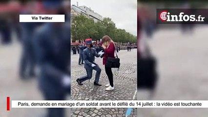 Paris, demande en mariage d'un soldat avant le défilé du 14 juillet : la vidéo est touchante
