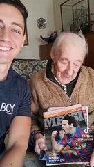 Messi le envía un saludo especial a un abuelito de 100 años que ha anotado todos sus goles