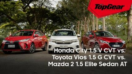 Big Test: Honda City 1.5 V CVT vs. Toyota Vios 1.5 G CVT vs. Mazda 2 1.5 Elite Sedan AT