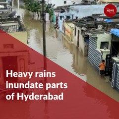 Heavy rains inundate parts of Hyderabad, orange alert for Telangana