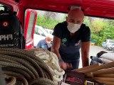 Trois pompiers de la Loire au secours de la Belgique - Reportage TL7 - TL7, Télévision loire 7
