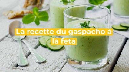 La recette du gaspacho concombre, miel et feta
