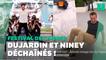 À Cannes, Jean Dujardin et Pierre Niney font le show devant les photographes