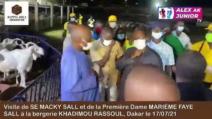Visite du Président de la République SEM Macky SALL et de la Première Dame Maréme FAYE SALL à la Bergerie Khadimou Rassoul