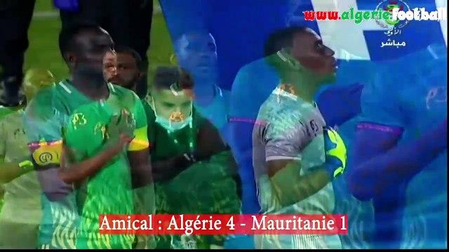 Algérie 4 - Mauritanie 1  : Résumé du match et la réaction de Belmadi