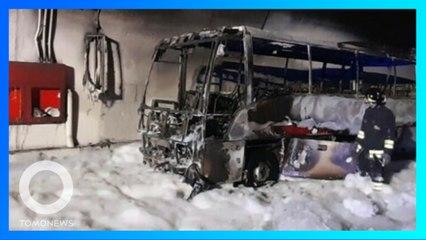 Supir Pahlawan Selamatkan 25 Anak Sebelum Bus Terbakar - TomoNews