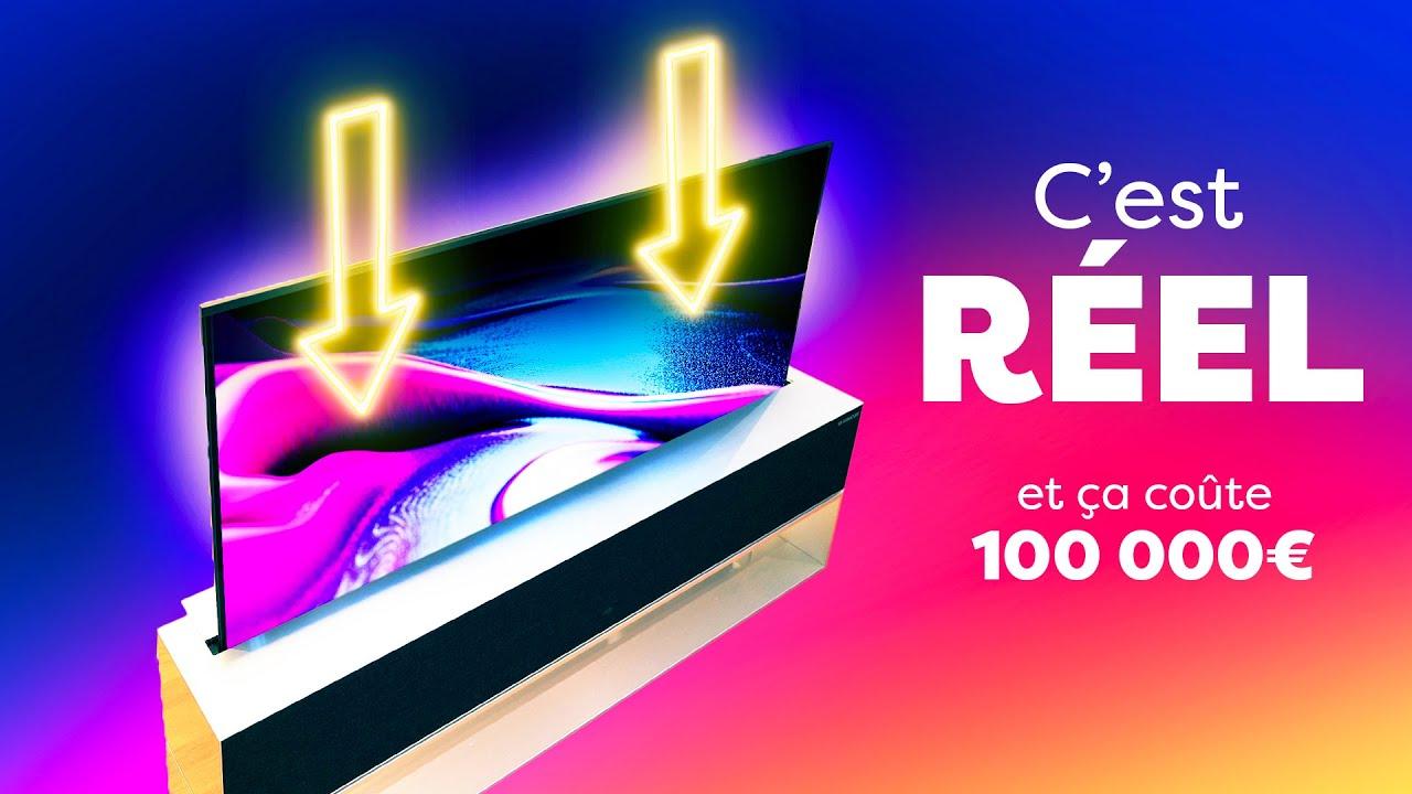 La PREMIÈRE TV qui se DÉPLIE (100 000€) ! Voici le LG OLED TV 65 R1