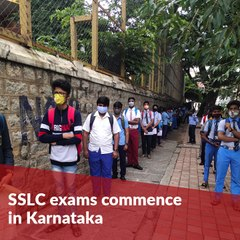 SSLC ktka examsSSLC exams commence in Karnataka with COVID-19 protocols in place