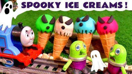 Spooky Halloween Ghost Play-Doh Ice Creams with the Funlings Toys and Thomas and Friends plus Pixar Cars Lightning McQueen in these Family Friendly Full Episode English Toy Story Videos for Kids from Kid Friendly Family Channel Toy Trains 4U