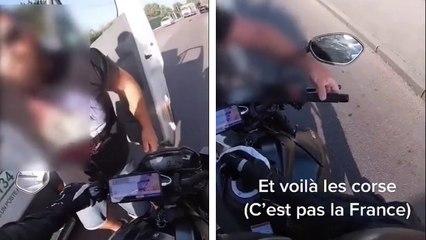 Quand un Corse s'énerve contre un motard qui le double
