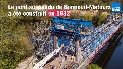 Pont suspendu de Bonneuil-Matours : un chantier XXL
