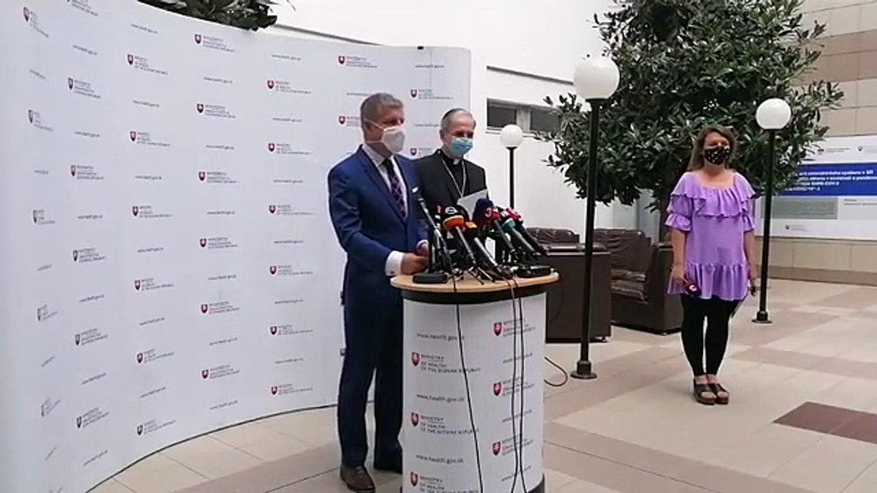 ZÁZNAM: Vyhlásenie ministra zdravotníctva k návšteve pápeža na Slovensku