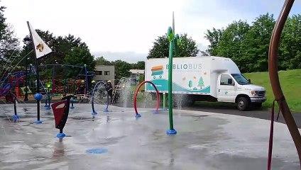 Les nouveaux jeux d'eau au Parc Vincent