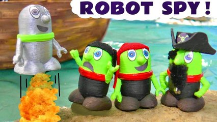 Funny Funlings Robot Funling Adventure with Pirate Toys Funlings in this Family Friendly Stop Motion Toys Episode Video for Kids by Kid Friendly Family Channel Toy Trains 4U