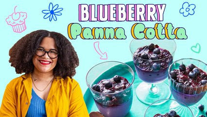 The Best Summer Berry Dessert: Blueberry Panna Cotta w/ Blueberry Chia Pudding | Pastries with Paola