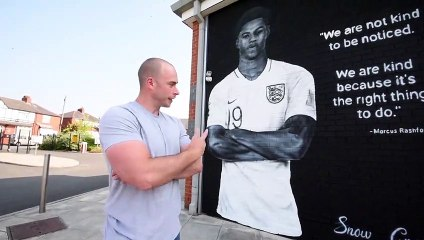 Marcus Rashford Mural at Wigan school